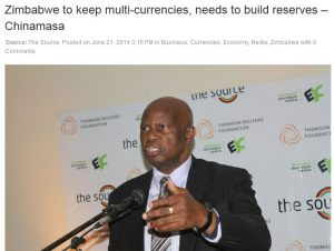 chinamasa zim dollar statement