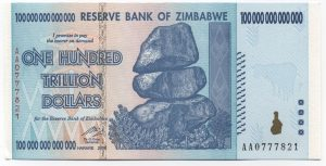 Zimbabwe Dollar 2008 100 Trillion